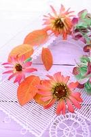 ジニア 紅葉 秋の花飾り