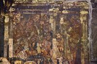 インド アジャンター石窟群 第2窟 壁画 「釈迦誕生」