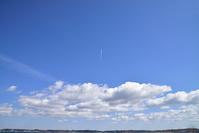愛知県 常滑市 航跡雲
