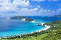 沖縄県 古座間味ビーチと安室島