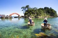 日本 新潟県 小木のたらい舟
