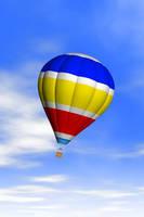 青空と気球 CG