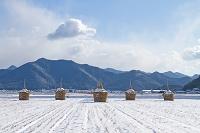 愛媛県 宇和盆地雪景色