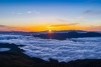 長野県 乗鞍の夜明け 日の出