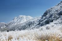 大分県九重町牧ノ戸峠より三俣山の冬