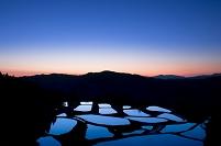 新潟県 山古志の棚田の朝景