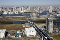首都高速晴海線とテプコ豊洲ビル