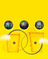 CG 人物イメージ 黄色