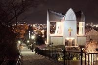 北海道 函館市 冬の聖ヨハネ教会
