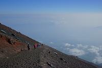 山梨県 富士登山(九合目)