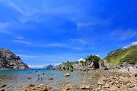 静岡県 ヒリゾ浜と青空