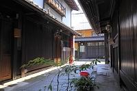 京都府 西陣紋屋町 町家と石畳