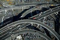 神奈川県 大黒JCTと車の流れ