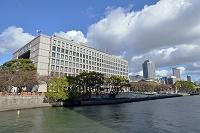 大阪府 大阪市役所と中之島の建物群