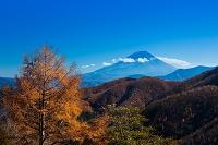 秋の櫛形山より富士山遠望