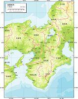 近畿地方 地勢図