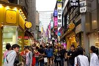 韓国 ソウルの町並み 明洞