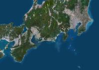 衛星写真 関東地方から関西地方全域