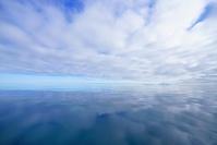 鏡のような北極の海