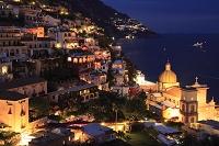 イタリア ポジターノ アマルフィ海岸 夜景