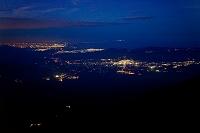 山梨県 富士山八合目から見た御殿場市 小田原市 平塚市方面の...