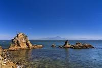 島根県 男女岩と大山