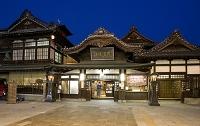 愛媛県 夜の道後温泉本館