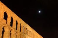 スペイン セゴビア 月と水道橋