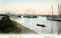 絵葉書 東京築地海岸(1880年代)