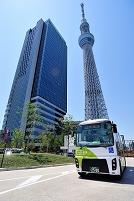 東京都 墨田区内循環バスと東京スカイツリー