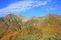 静岡県 赤石岳の紅葉