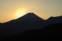 静岡県 上高下 朝焼けの富士山