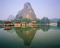 中国 五龍亭と石室岩