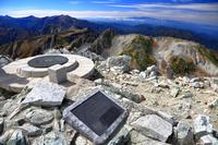 富山県 立山・雄山・山頂方位盤と一等三角点