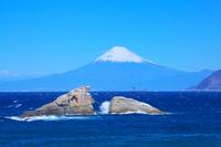 静岡県 富士山と雲見海岸