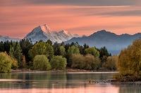 ニュージーランド プカキ湖とマウントクック