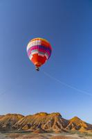 中国 七彩山の熱気球