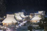 京都府 美山かやぶきの里 雪灯廊