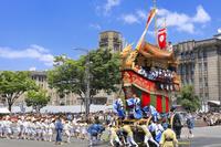 京都府 祇園祭(後祭山鉾巡行) 大船鉾の辻回し