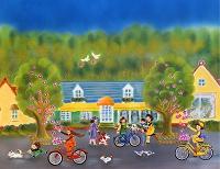 春の街へサイクリング