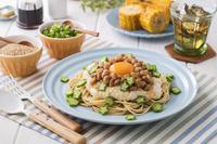 納豆と山芋のスタミナ冷製パスタ