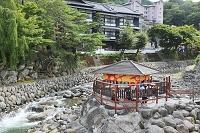 静岡県 伊豆市 修善寺温泉 独鈷の湯と桂川