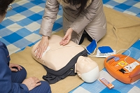 防災訓練 AED