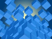 カラフルなブロックがランダムに分裂