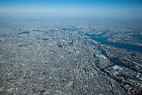 東京都 馬込周辺より都心方面 高度2,500m