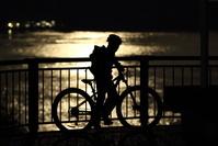 満月とサイクリング