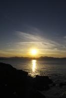 京都府 夕日ヶ浦の日没と日本海