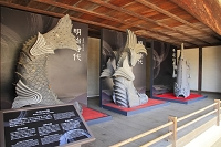 兵庫県 姫路城 りの二渡櫓で展示されている大天守の鯱