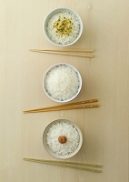 3種類のご飯と箸