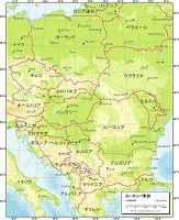 ヨーロッパ東部 地勢図